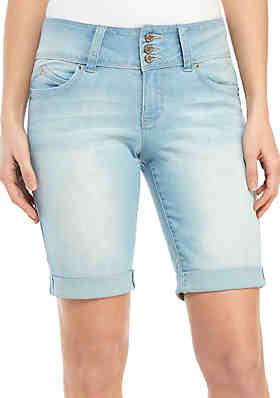 90c34b816 YMI Bermuda 3 Button Roll Cuff Shorts ...
