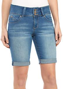 YMI Bermuda 3 Button Roll Cuff Shorts