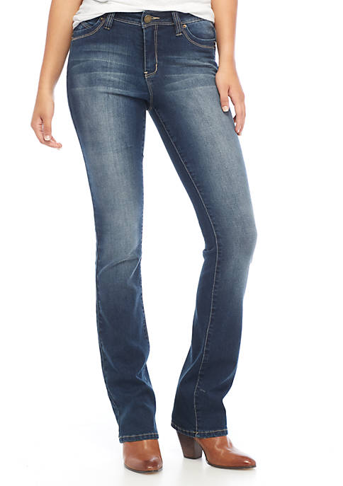 YMI Mid Rise Clean Wide Bootcut Jeans