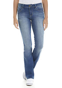 Mid Rise Clean Wide Bootcut Jeans