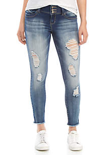 YMI 3 Button Destroyed Skinny Jeans