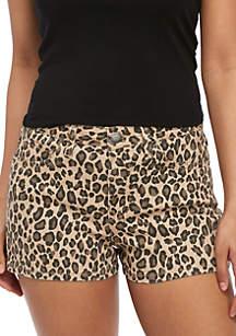 YMI 5 Pocket Leopard Shorts
