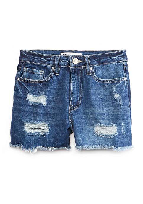 Juniors Destructed Dream Jean Shorts
