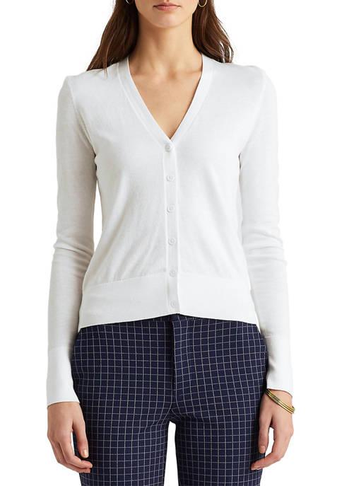 Lauren Ralph Lauren Cotton-Modal Cardigan Sweater