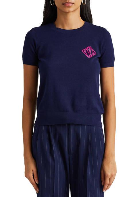 Lauren Ralph Lauren Cotton-Modal Short-Sleeve Sweater