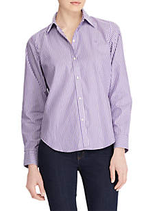 Wrinkle-Free Striped Dress Shirt