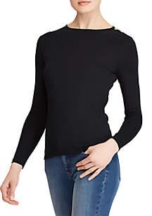 Buttoned-Shoulder Top