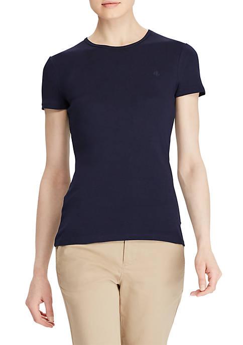 Lauren Ralph Lauren Ribbed Crewneck T-Shirt