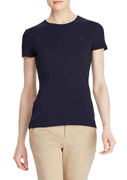 Lauren Ralph Lauren Ribbed Crewneck T-Shirt ...