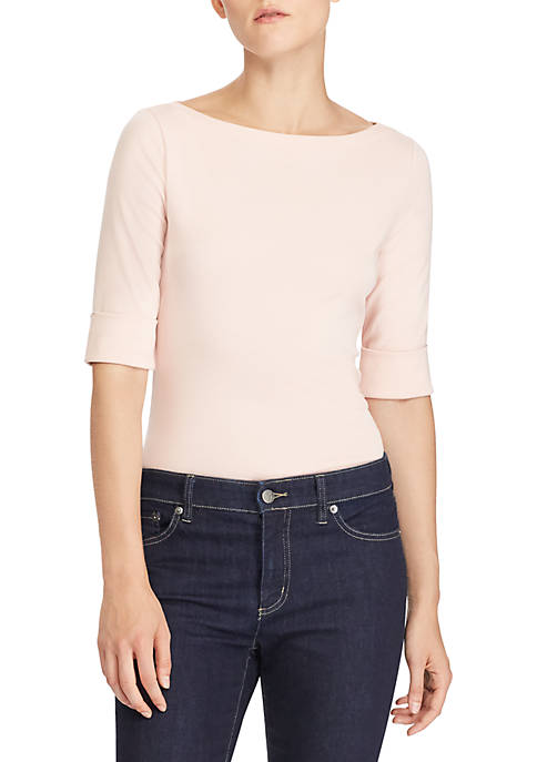 Lauren Ralph Lauren Judy Elbow Sleeve Boat Neck