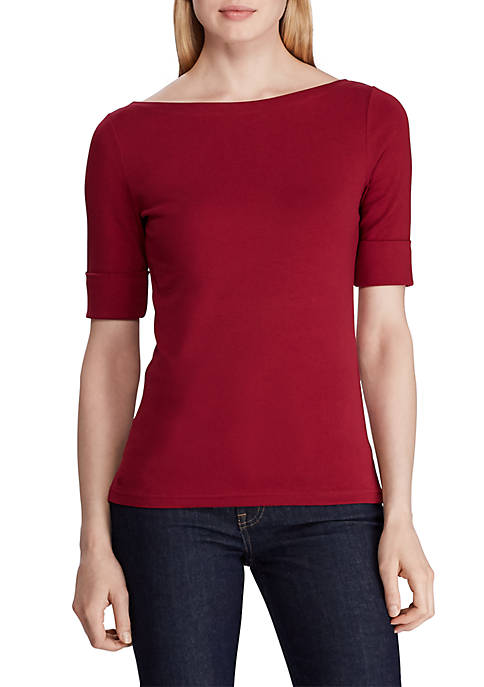 Judy Elbow Sleeve Knit Top
