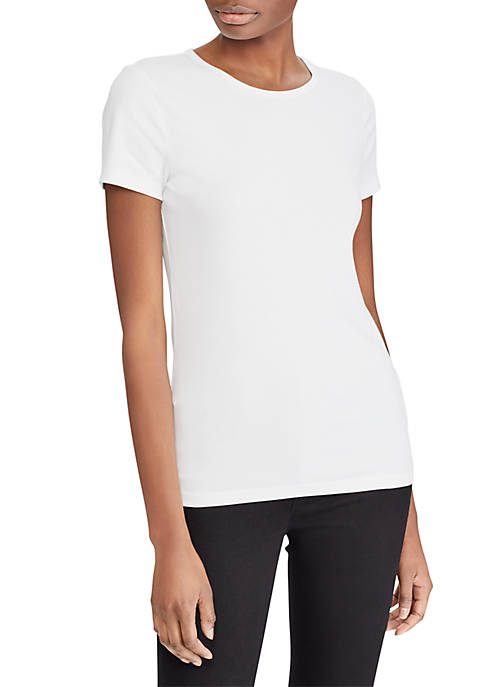 Lauren Ralph Lauren Crew Neck Cotton Tee