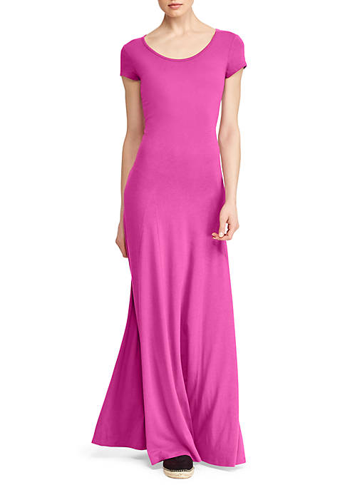 Lauren Ralph Lauren Jersey Scoop Neck Maxi Dress