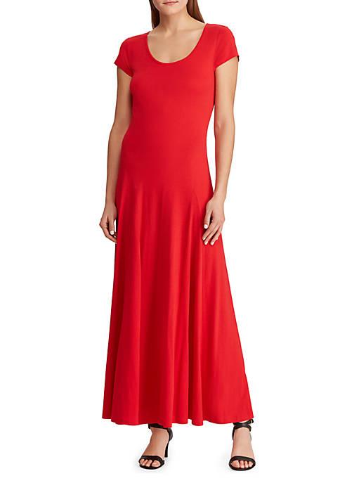 Lauren Ralph Lauren Jersey T-Shirt Maxi Dress
