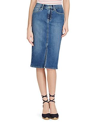 hullu hinta san francisco suorituskykyiset urheiluvaatteet Stretch Denim Pencil Skirt