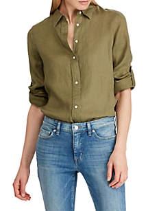 b43f301ac ... Lauren Ralph Lauren Linen Roll Cuff Shirt