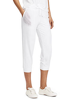 Lauren Ralph Lauren Cropped Skinny Sweatpants
