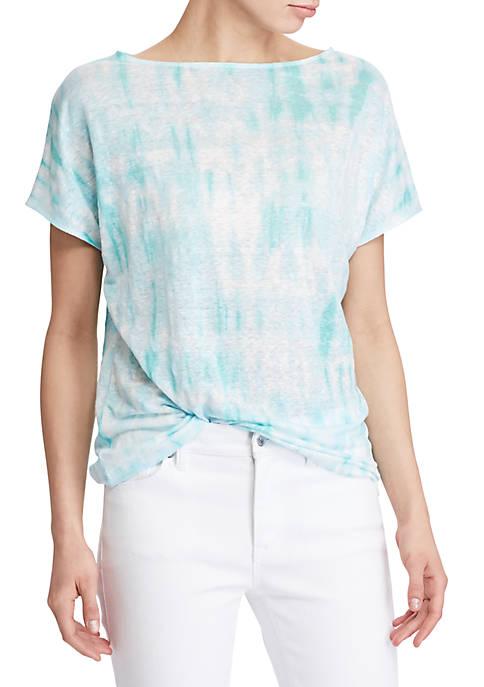 Lauren Ralph Lauren Tie Dye Linen Knit Top Belk
