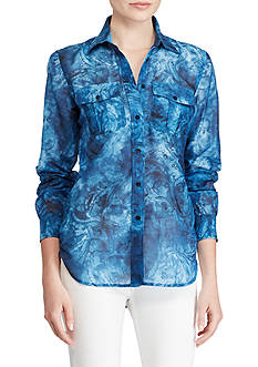 Lauren Ralph Lauren Tie-Dye Button-Up Shirt