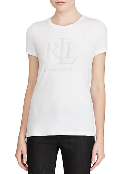 Lauren Ralph Lauren Katlin Studded Jersey T-Shirt