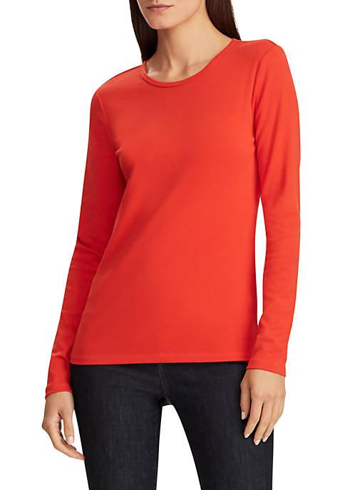 Lauren Ralph Lauren Stretch Long Sleeve T-Shirt