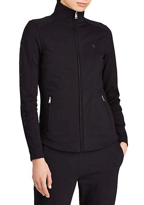 Lauren Ralph Lauren Stretch Cotton Mockneck Jacket