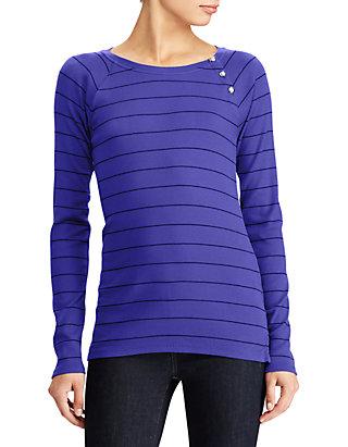 9ac44523 Lauren Ralph Lauren. Lauren Ralph Lauren Button-Shoulder Striped Top