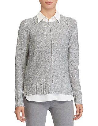 Layered Cotton Blend Sweater
