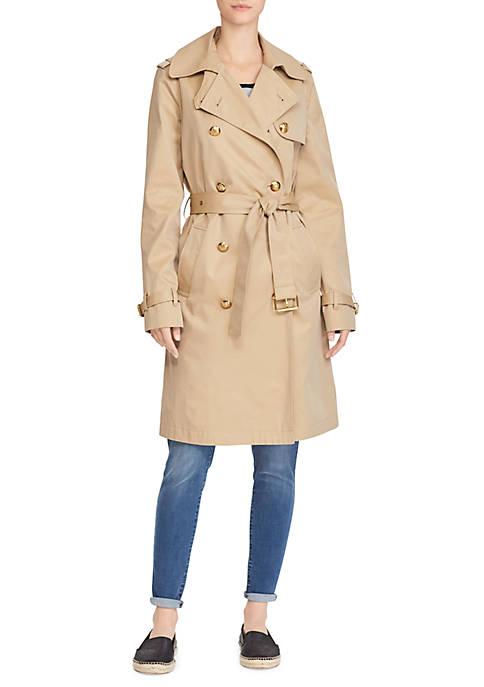 Lauren Ralph Lauren Cotton Twill Trench Coat