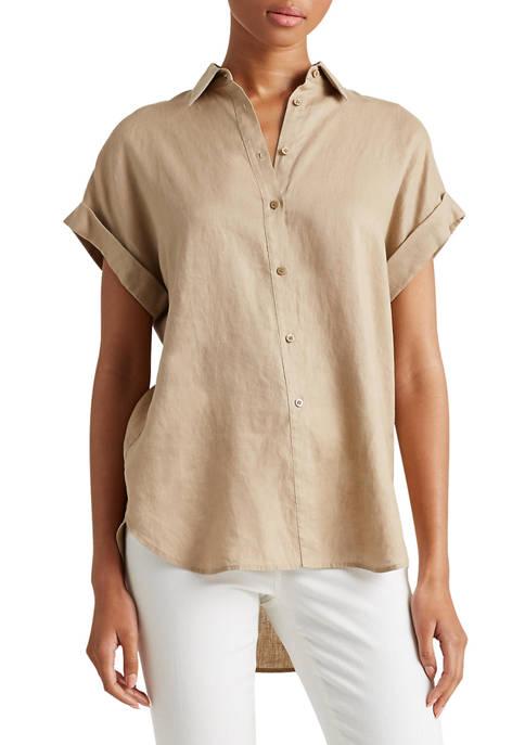 Lauren Ralph Lauren Linen Short-Sleeve Shirt