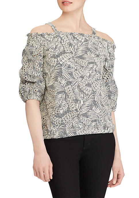 Lauren Ralph Lauren 3/4 Off-the-Shoulder Top