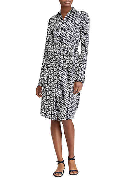Lauren Ralph Lauren Geo-Print Twill Shirt-dress ...