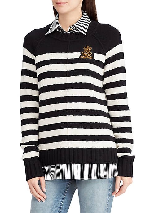 Lauren Ralph Lauren Bullion Patch Layered Shirt