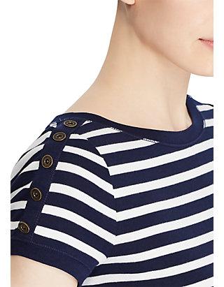 71fc1c43 Lauren Ralph Lauren Button-Shoulder Striped Top | belk