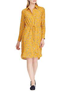Floral Crepe Shirt Dress