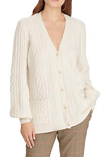 Bishop-Sleeve Cardigan