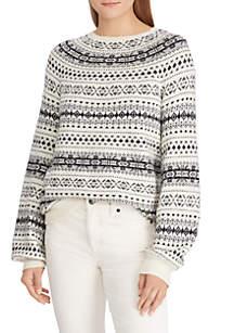 Fair Isle Cotton-Blend Sweater