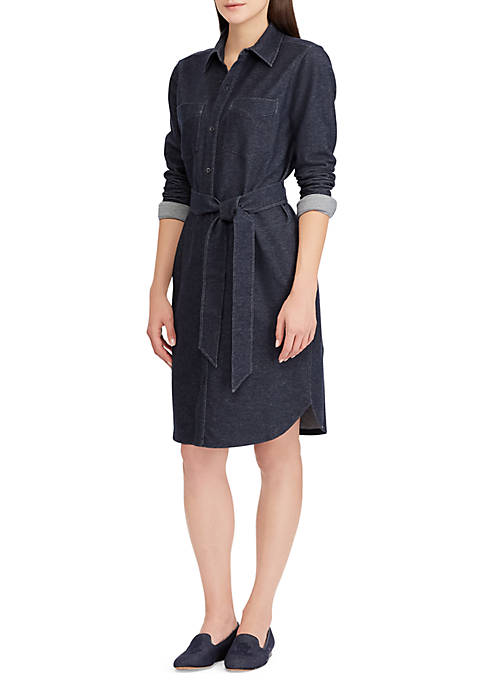 Lauren Ralph Lauren Belted Denim Shirt Dress