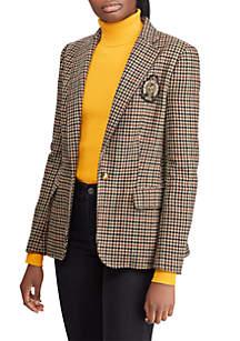 Bullion Plaid Wool Blazer
