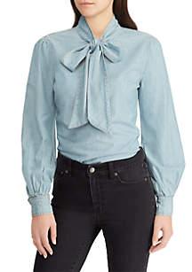 Necktie Chambray Shirt