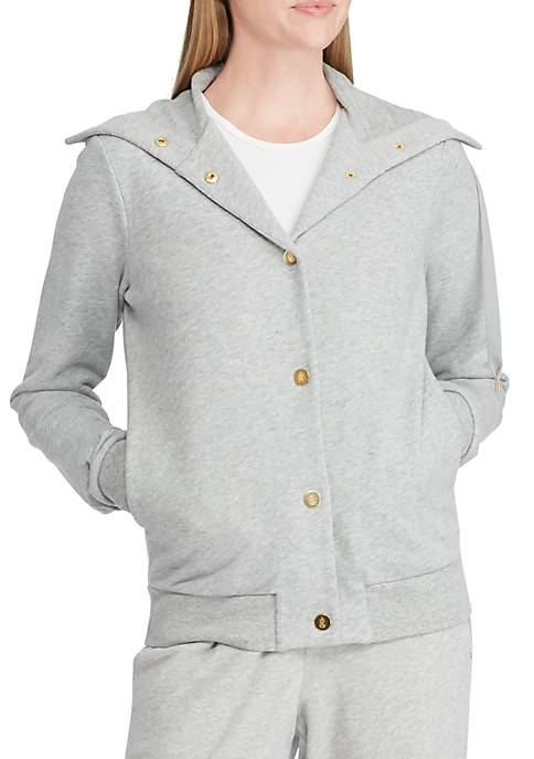 Lauren Ralph Lauren French Terry Funnel Neck Jacket