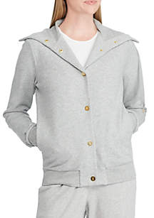 French Terry Funnel Neck Jacket
