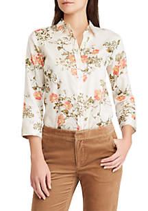 Floral-Print No-Iron Button-Down Shirt