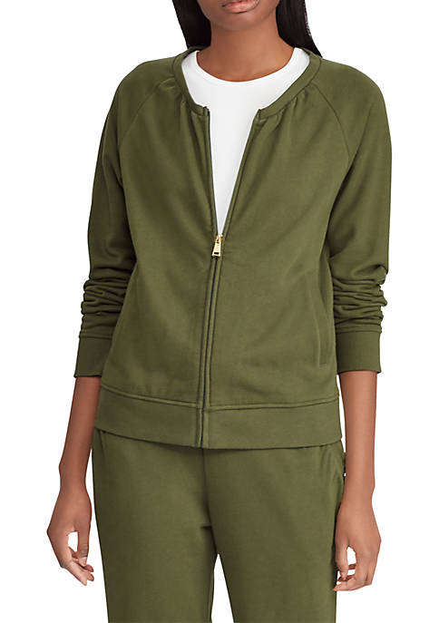 Lauren Ralph Lauren French Terry Mock-Neck Jacket