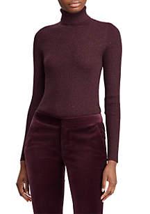 Lurex Turtleneck Sweater