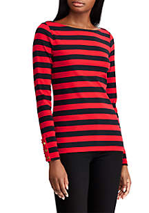 Striped Boatneck Cotton Top
