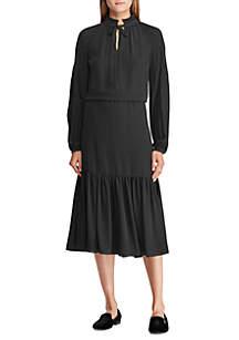 Polka-Dot Georgette Dress