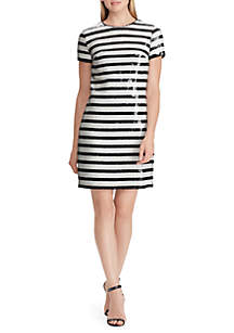 Sequined Striped Dress