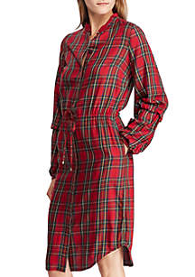Tartan Cotton Shirt Dress