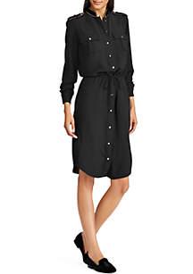 Georgette Shirt Dress